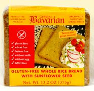 Gluten Free Whole Rice Bread with Sunflower Seed