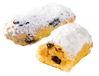 stollen pieces with marzipan