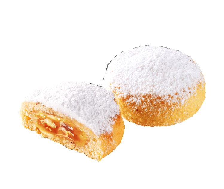 Stollen pieces with apple filling