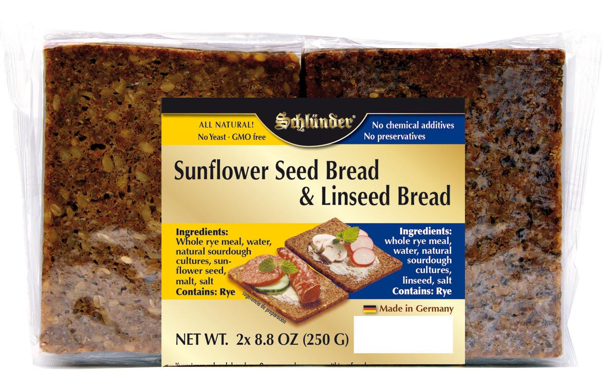 Sunflower seed bread & Linseed Bread