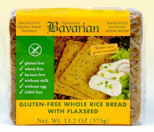 rice bread flaxseed glutenfree
